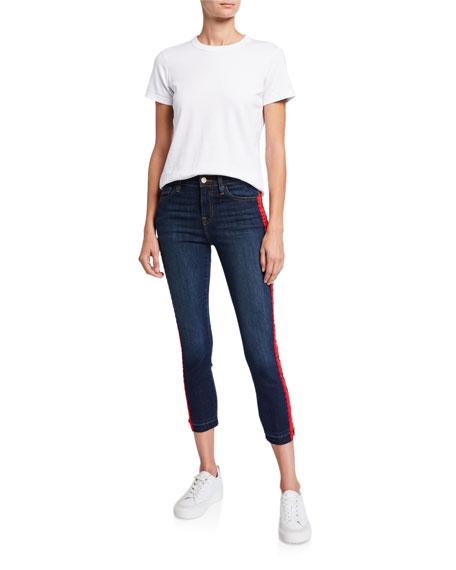 Etienne Marcel Side-Zip Cropped Skinny Jeans