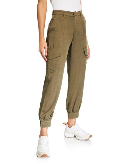 Etienne Marcel Zipper-Bottomed Relaxed Cargo Pants