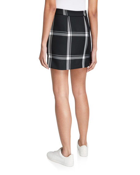 Image 2 of 3: Milly Prepster Check Modern Mini Skirt