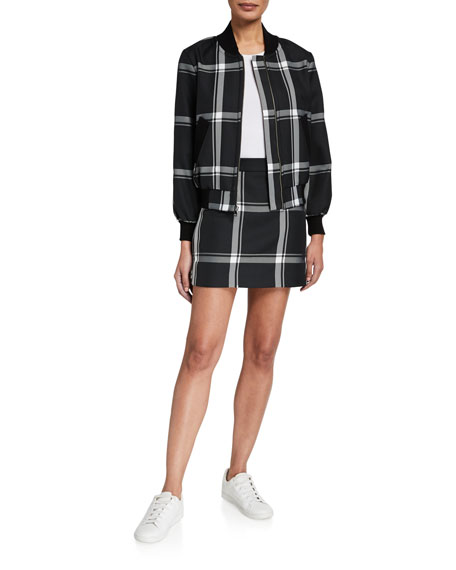 Image 3 of 3: Milly Prepster Check Modern Mini Skirt