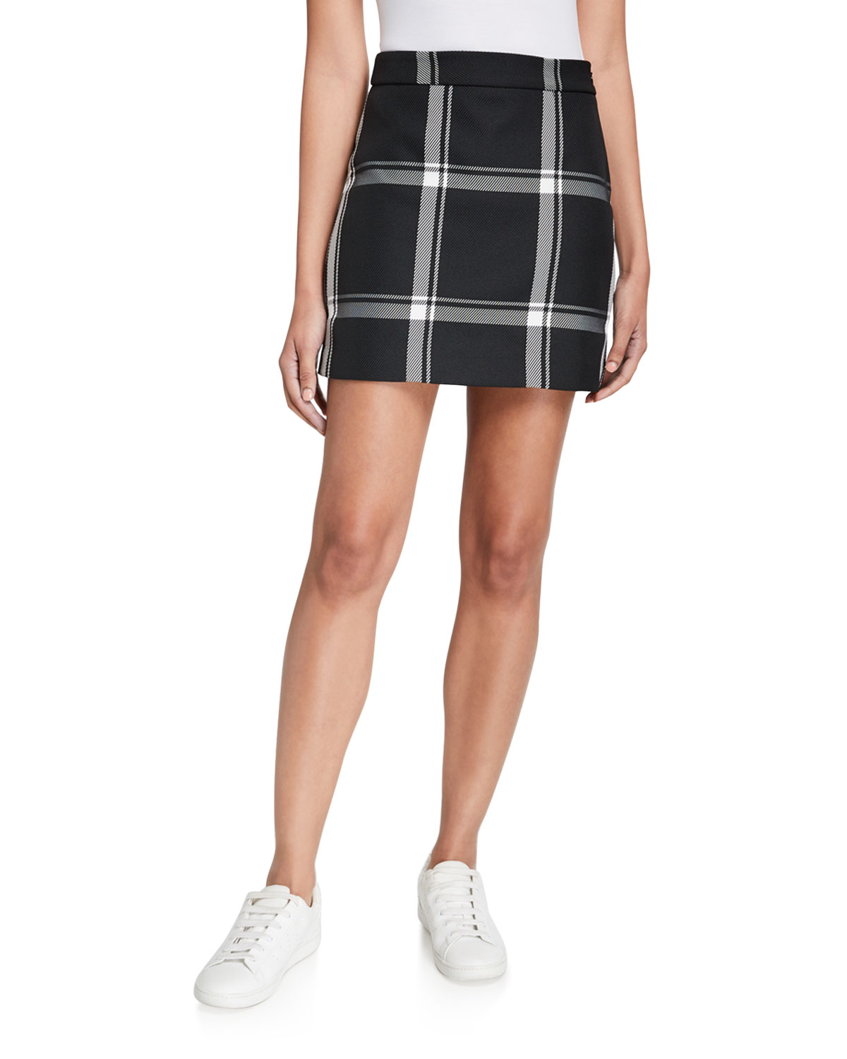 Milly Prepster Check Modern Mini Skirt