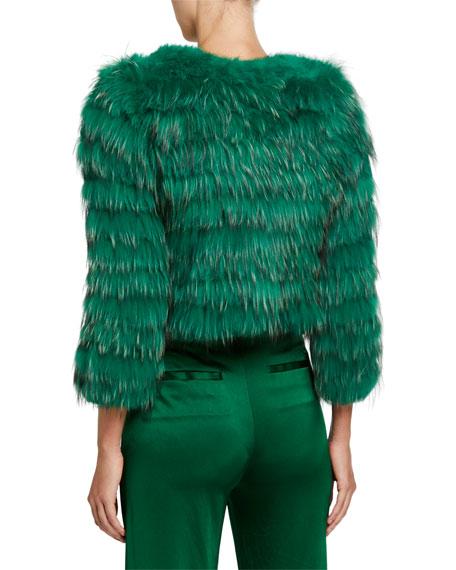 Alice + Olivia Fawn Cropped Fur Jacket