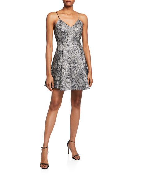 Alice + Olivia Anette Deep Pleat Party Dress