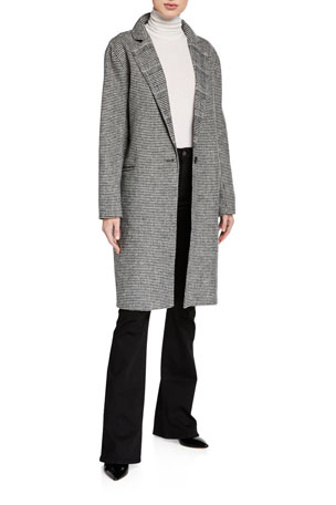 7 for all mankind Plaid Wool Long Trench Coat
