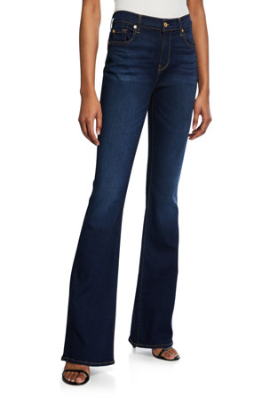7 for all mankind Ali High-Rise Dark-Wash Jeans