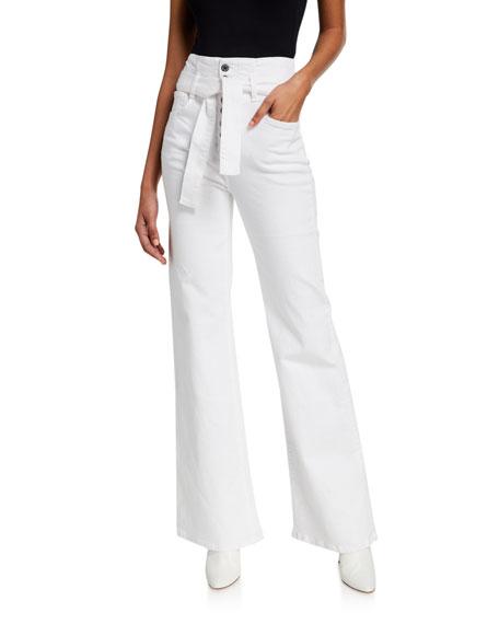 Veronica Beard Rosanna Belted Wide-Leg Jeans