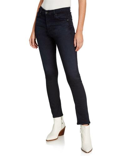 Mari High-Rise Slim Straight Jeans