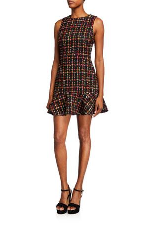 Alice + Olivia Sonny Sleeveless Ruffle Dress