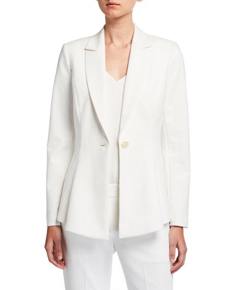 Elie Tahari Arya One-Button Crepe Jacket
