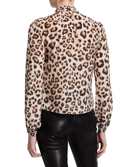 Generation Love Damian Leopard-Print Choker Top