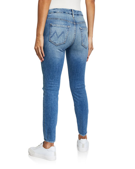 MOTHER Looker High-Waisted Ankle Jeans