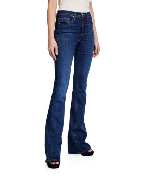 Veronica Beard Beverly High-Rise Skinny Flare Jeans