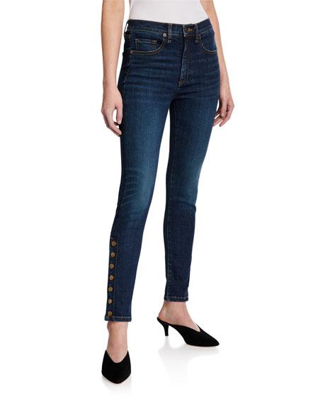 Veronica Beard Debbie High-Rise Skinny Jeans w/ Side Vents