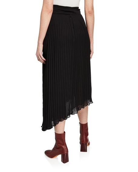 7 For All Mankind Asymmetric Plisse Maxi Skirt