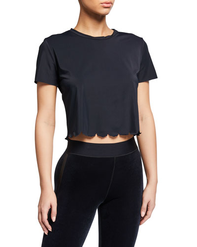 Cropped Chinoiserie T-Shirt