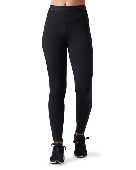 Blanc Noir CITY High-Rise Snake-Jacquard Training Leggings