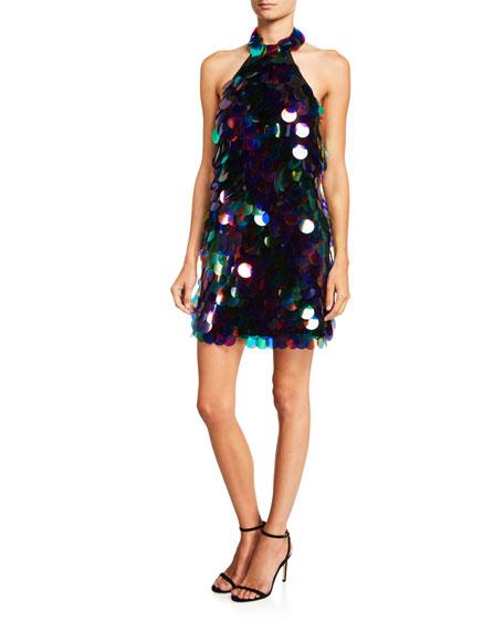 SHO Paillette Mini Halter Dress