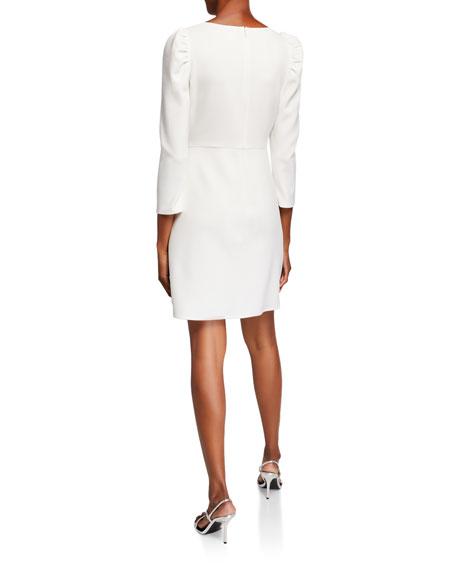 Shoshanna Upton 3/4-Sleeve Asymmetric Sheath Dress