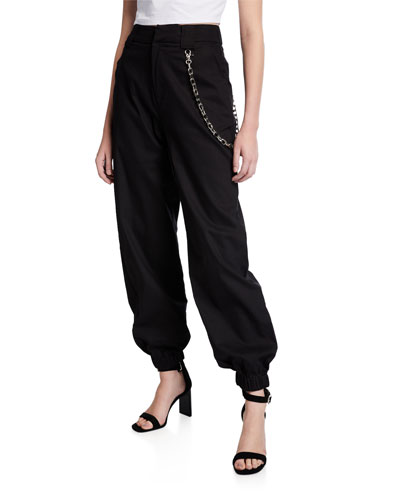 Cobain Slouchy Pants with Chain