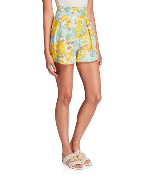 Faithfull the Brand Ondine High-Waist Linen Shorts