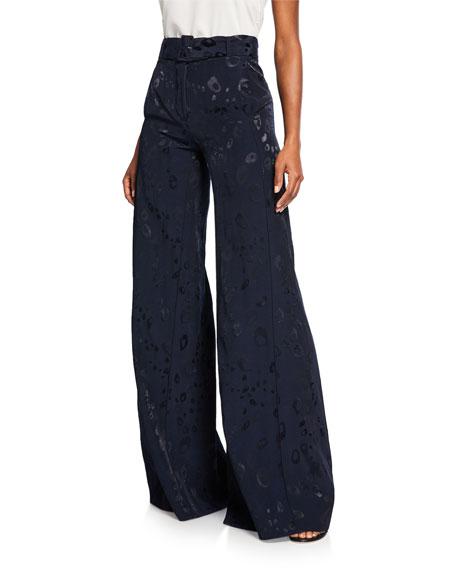 Alexis Donira Bengal High-Waist Belted Suit Pants