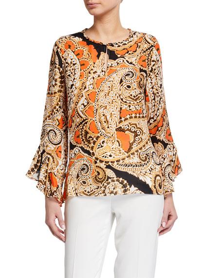 Kobi Halperin Kayla Printed Silk-Blend Blouse