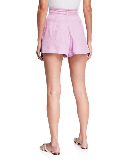 Faithfull the Brand Ondine Pleated Linen Shorts