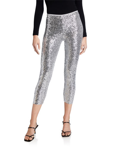 Overlapping Sequin Leggings