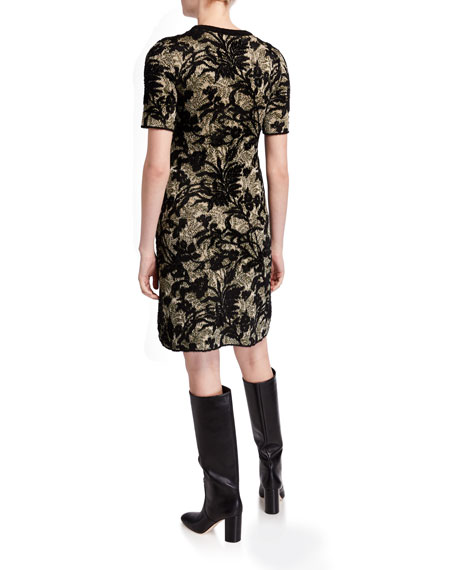 Tory Burch Short-Sleeve Sweater Dress