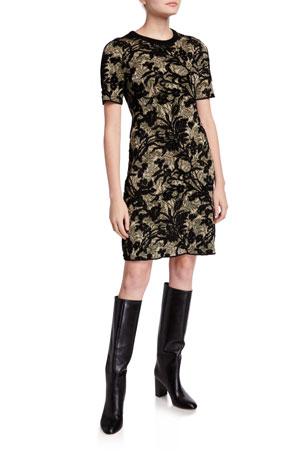 Tory Burch Short-Sleeve Sweater Dress