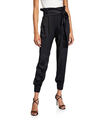 Nancy Tie-Waist Jogger Pants