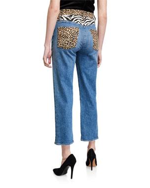 18 2X 24 3X Ashley Stewart distressed Boucle tweed plaid Denim blue jean skirt