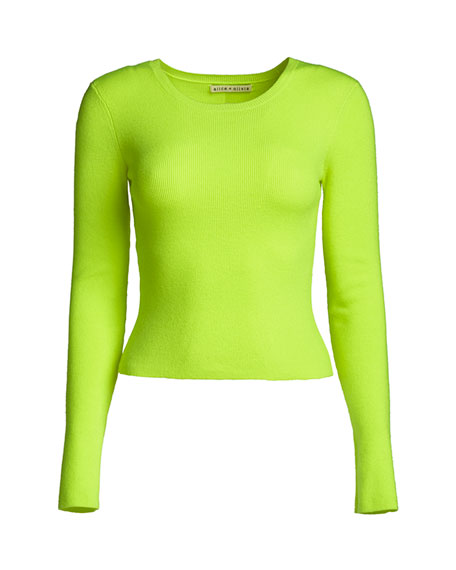 ALICE + OLIVIA JEANS Ciara Long-Sleeve Fitted Top