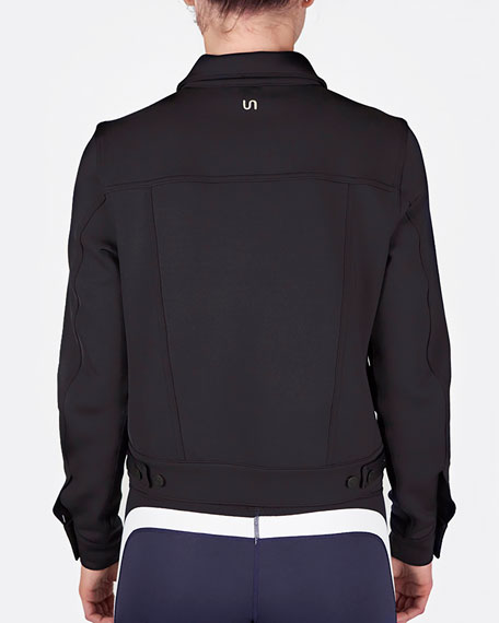 Image 3 of 3: Urban Savage Scuba Button-Front Jacket