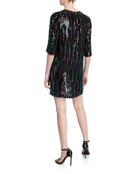 Velvet Elisa Sequined Short Shift Dress