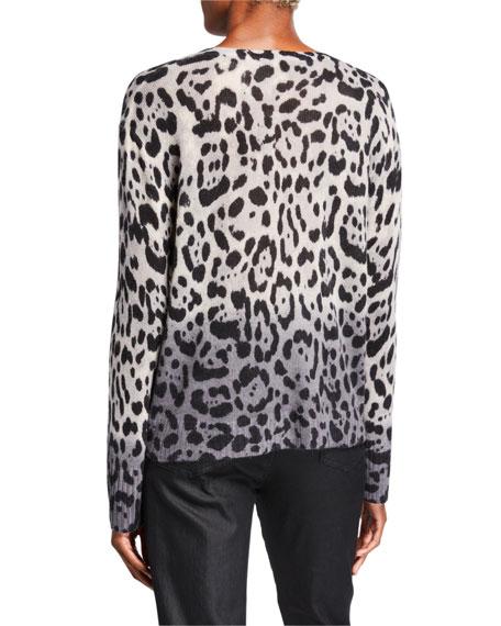 360Sweater Lauren Leopard-Print Ombre Cashmere Sweater