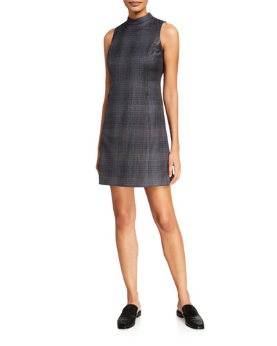 Soft Plaid Wool Mod Dress