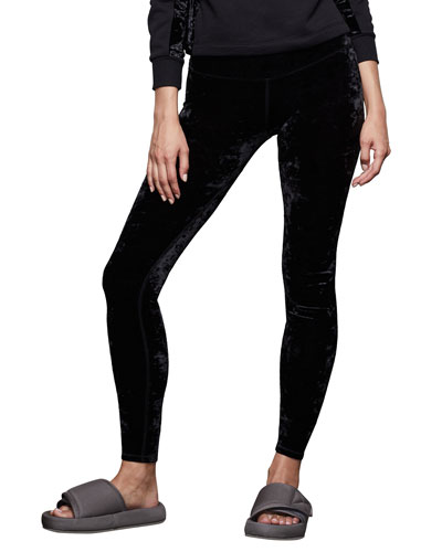 Crushed Velvet High-Rise Leggings - Inclusive Sizing