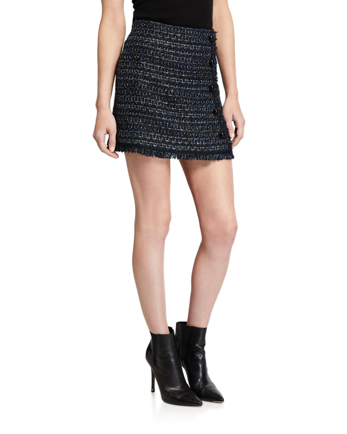 Mirabelle Tweed Button Front Skirt by Veronica Beard