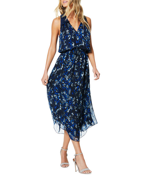 Ramy Brook Moe Printed Sleeveless Midi Dress