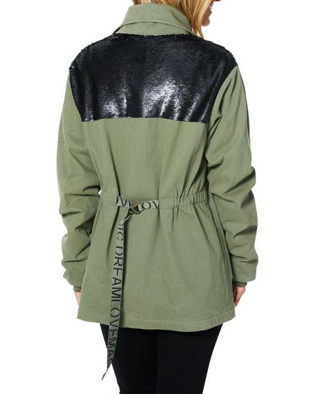 Ramy Brook Celia Sequined Utility Jacket