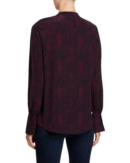 Joie Tariana Printed Button-Down Top