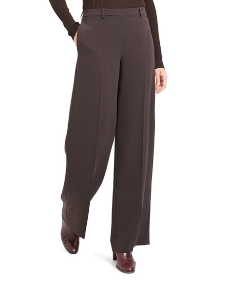 Theory Pants ADMIRAL CREPE WIDE-LEG TROUSERS