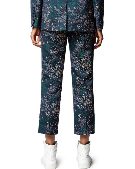 Zadig & Voltaire Posh Jacquard Glam Ankle Pants