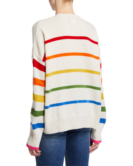 Sundry Striped Oversized Wool-Blend Sweater