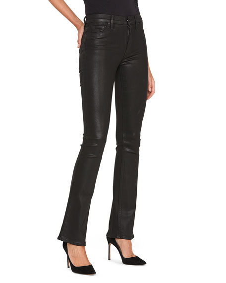 Hudson Barbara High-Rise Coated Boot-Cut Jeans