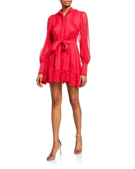 Olinka Long Sleeve Ruffle Dress by Alexis