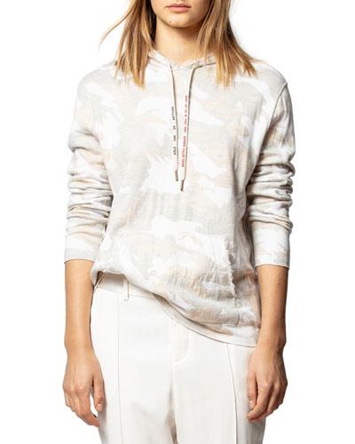 Nea Hooded Camo-Print Pullover
