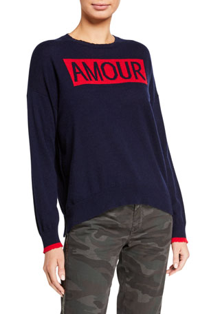 Sundry Amour Crewneck Wool-Blend Sweater