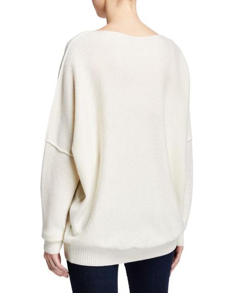 Lafayette 148 New York Plus Size Cashmere Bateau-Neck Sweater
